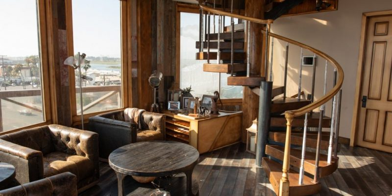 This Sky-High Water Tower Doubles as a Rustic Beach Retreat